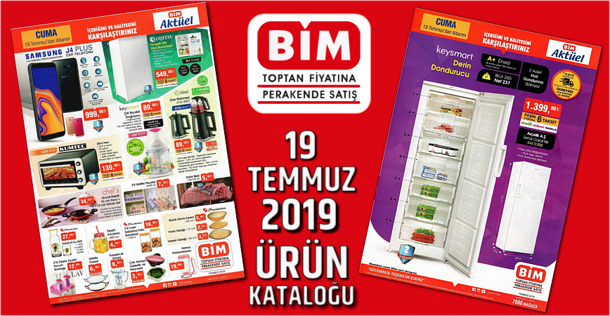 Photo of BİM AKTÜEL 19 TEMMUZ 2019 ÜRÜNLER KATALOĞU YAYINLANDI