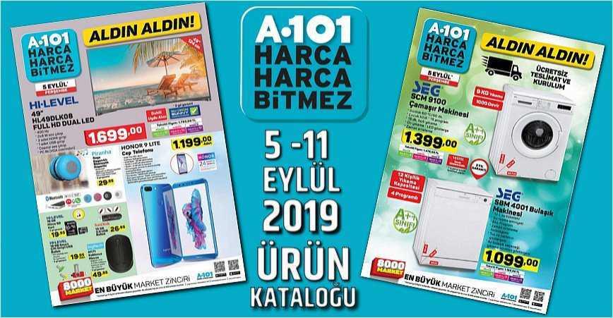 Photo of A101 5 EYLÜL – 11 EYLÜL 2019 AKTÜEL ÜRÜN KATALOĞU YAYINLANDI!